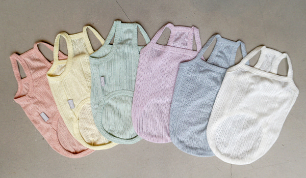 어나더유 ANOTHERU Baby Eyelet Tanktop (6 colors)